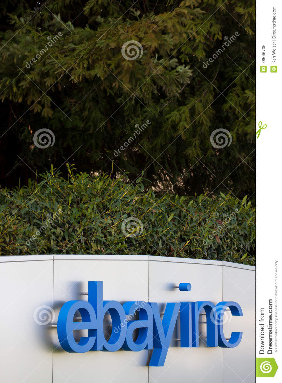 Ebay Corporate Headquarters Sign Editorial Image - Image of