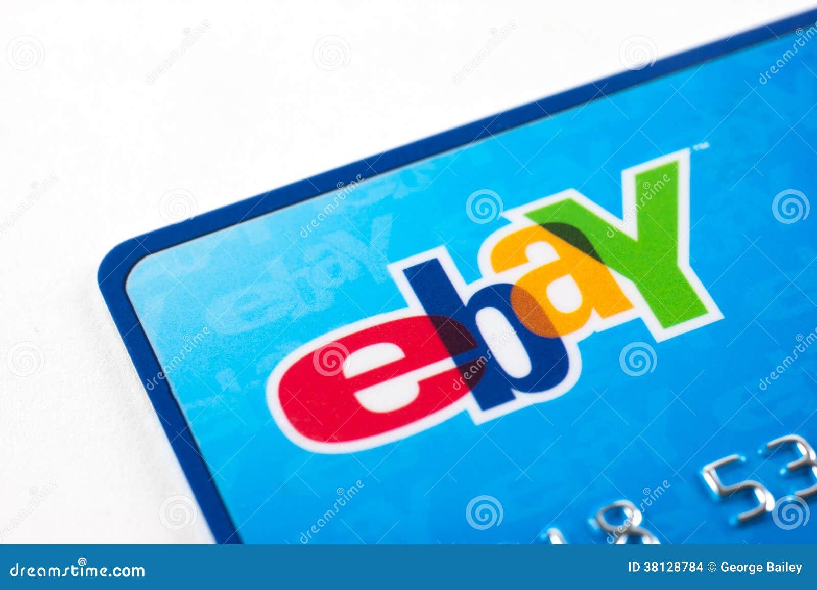 Ebay Credit Card Editorial Stock Image Image Of Plastic 38128784