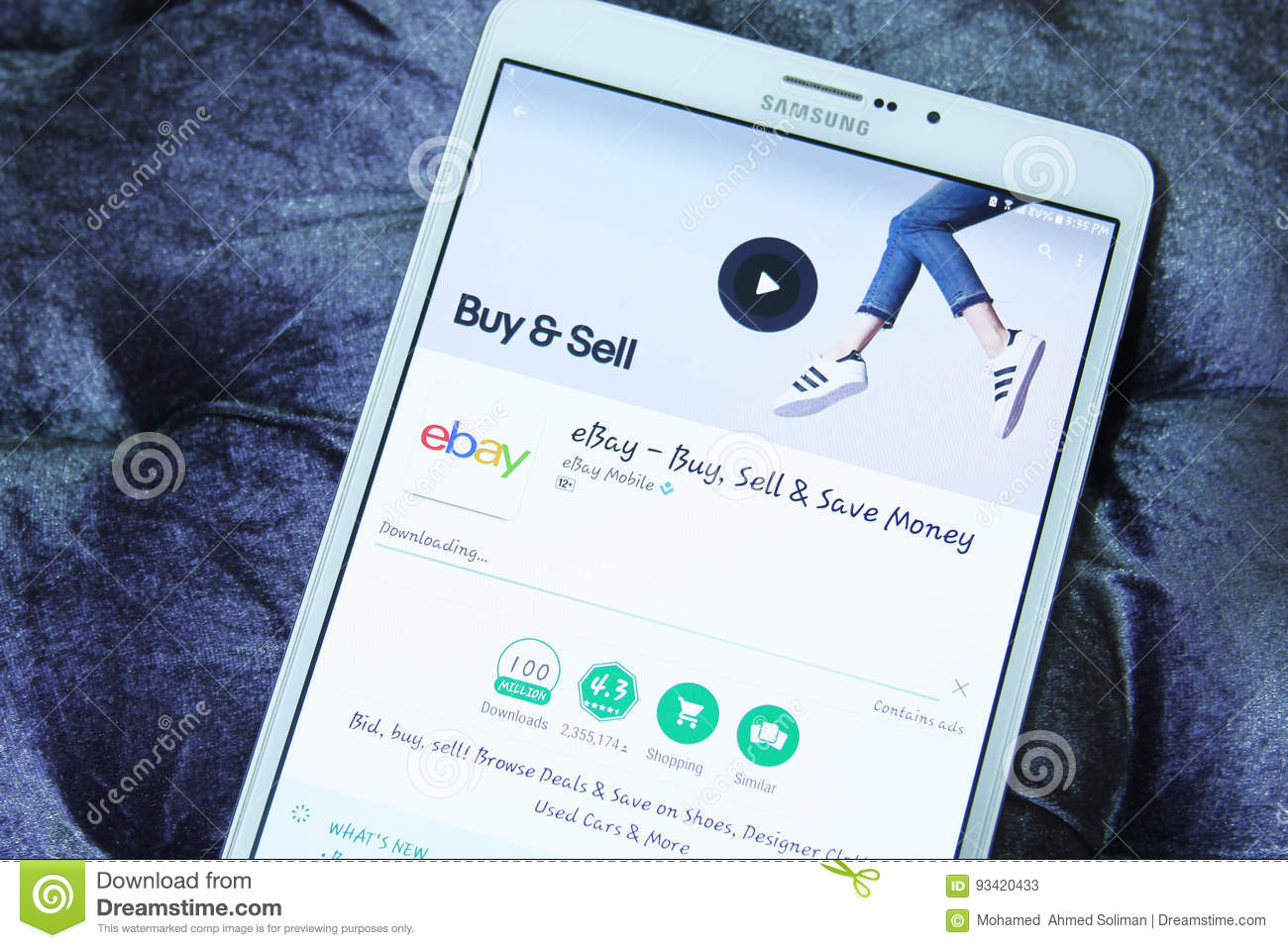 Ebay Mobile Android App Editorial Stock Photo Image Of Icons 93420433
