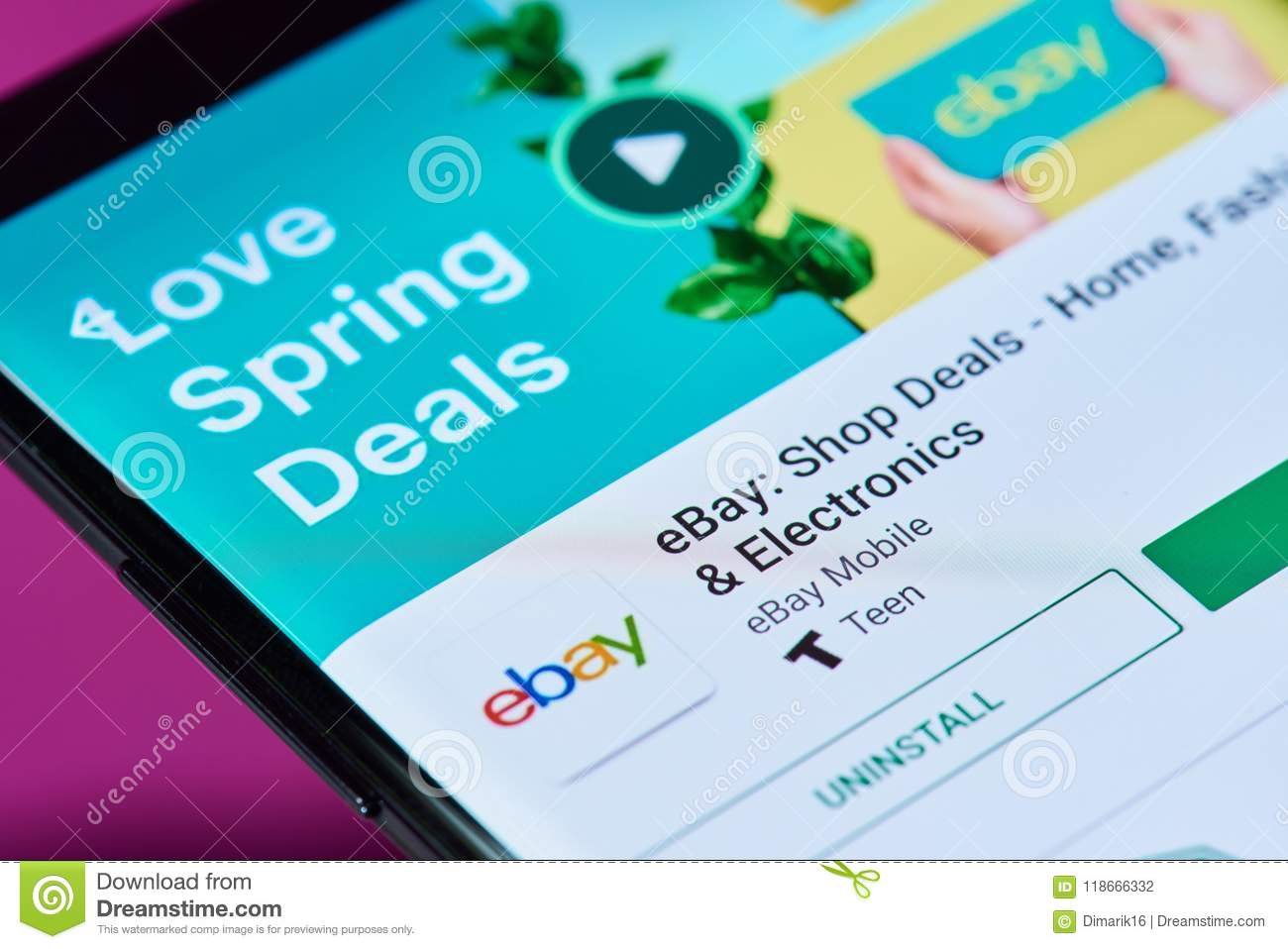 Ebay online shop editorial photography. Image of online - 118666332