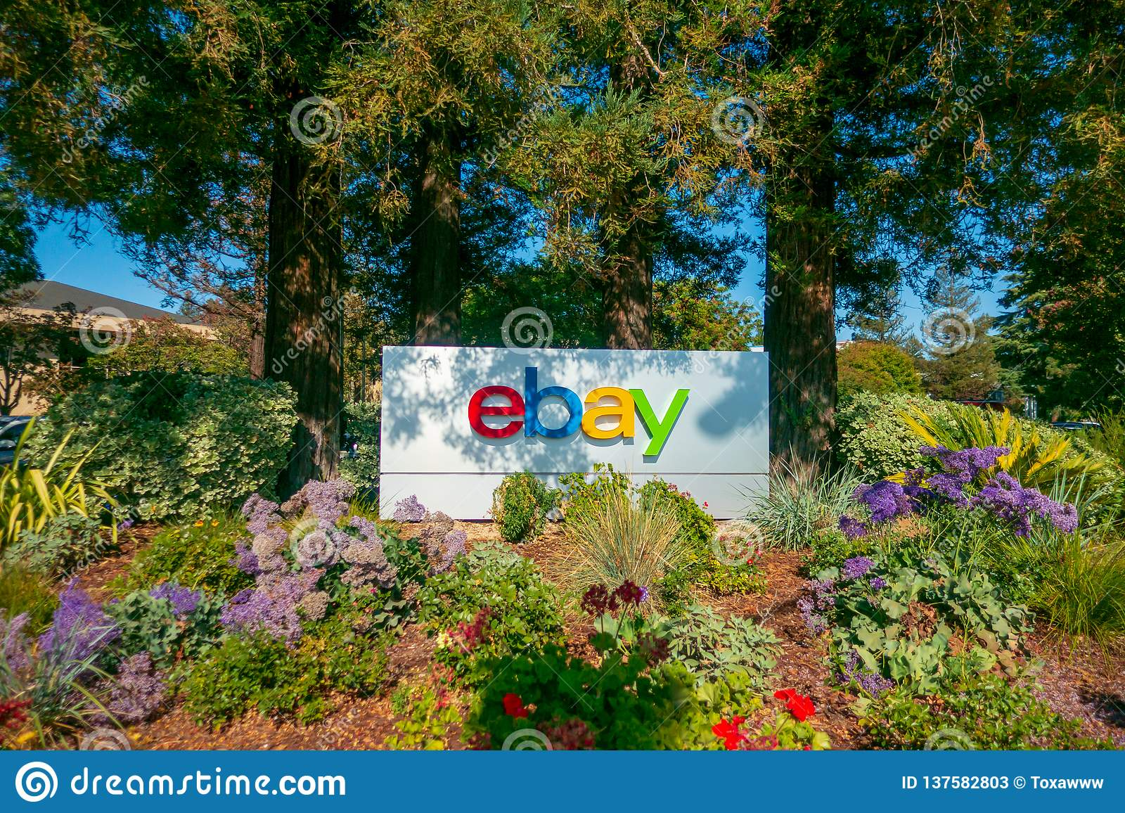 Ebay Outdoor Logo At Company Headquarters In Silicone Valley Editorial Stock Photo Image Of Online Internet 137582803
