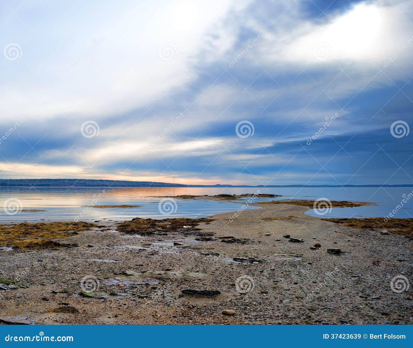 Ebbe auf Penobscot-Bucht