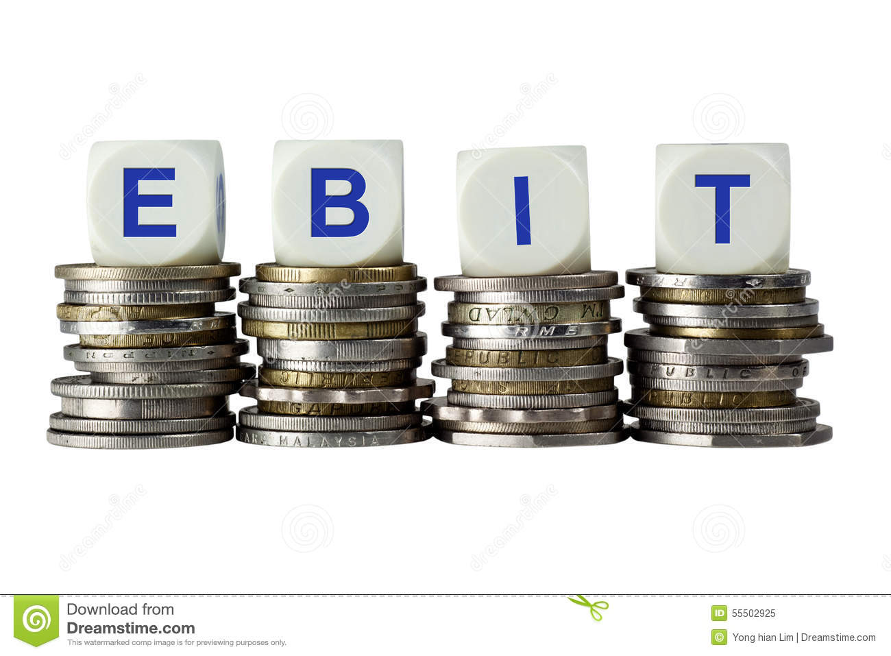 Ebit Earnings Before Interest And Taxes Stock Photo