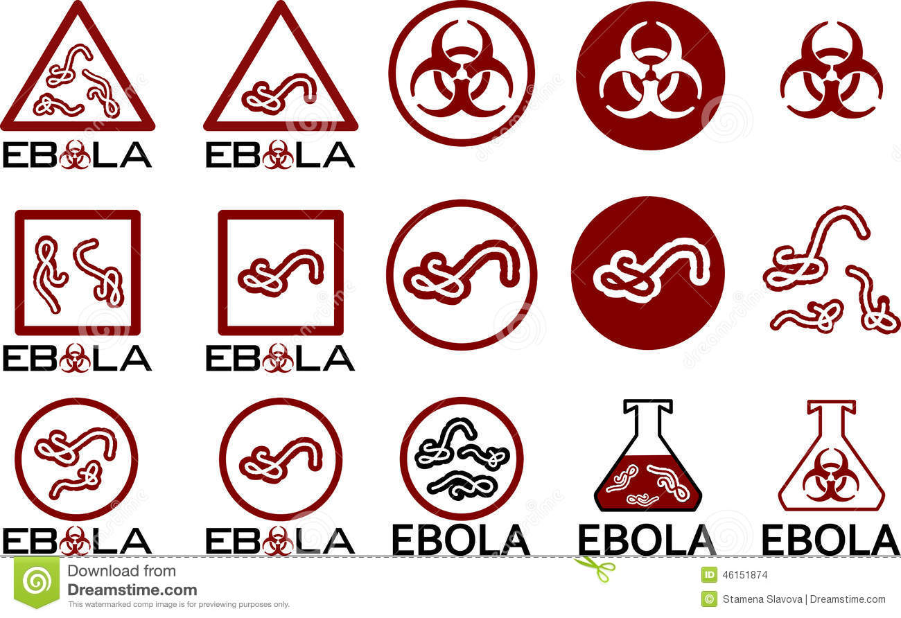 Ebola Icons Symbols And Text Stock Photo Illustration Of Alert