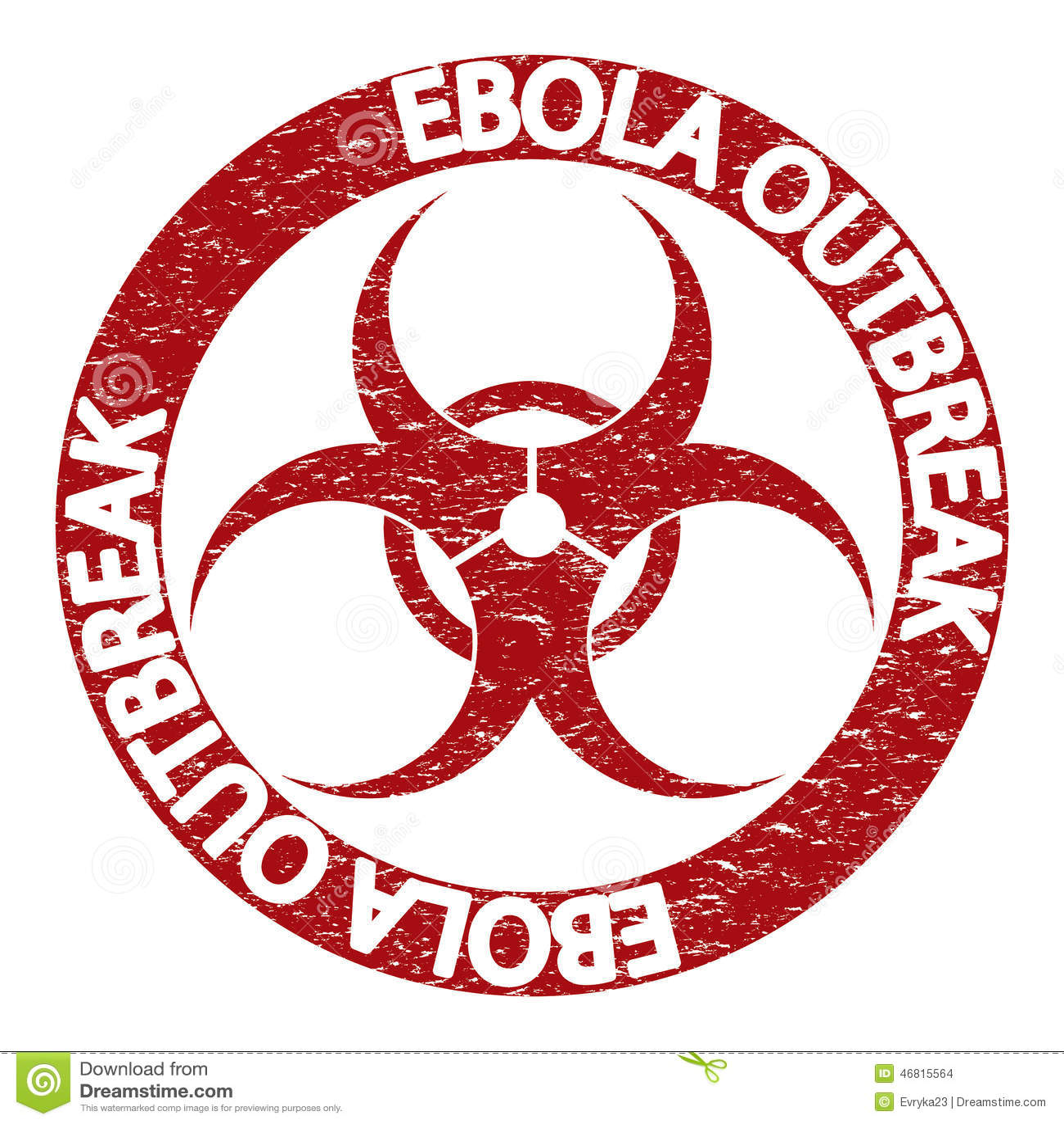 Ebola Virus Abstract Grunge Alert Stock Vector Illustration Of