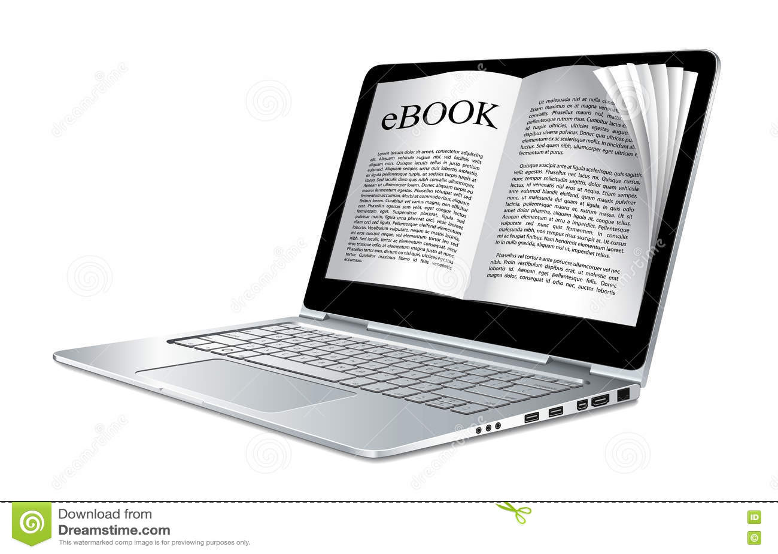 Download Ebook - компьтер-книжка как электронная книга Иллюстрация вектора - иллюстрации насчитывающей изолировано, дисплей: 72286169