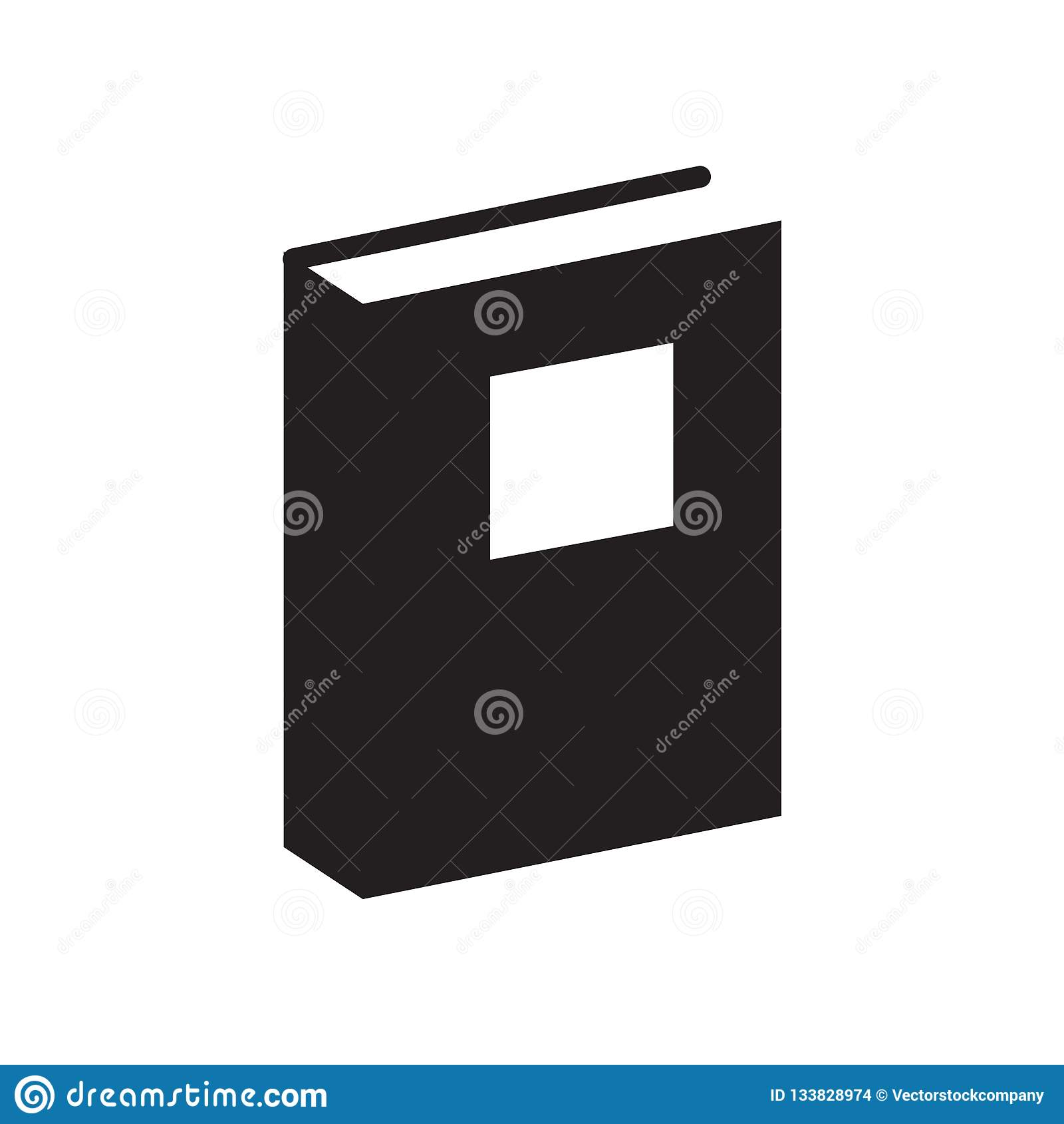Ebook Icon Vector Sign And Symbol Isolated On White
