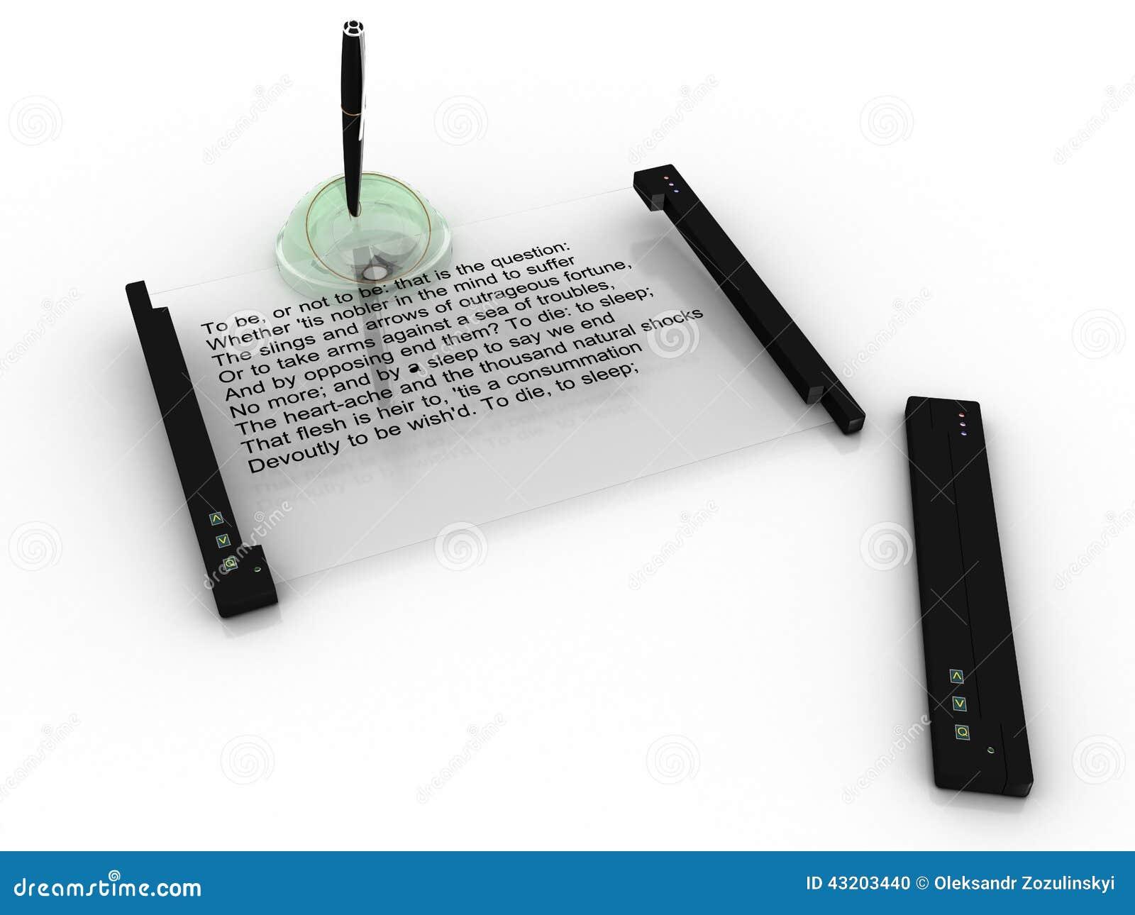 """Download EBook Minnestavla På En Vit Bakgrund â""""– 2 Stock Illustrationer - Illustration av sida, tablet: 43203440"""