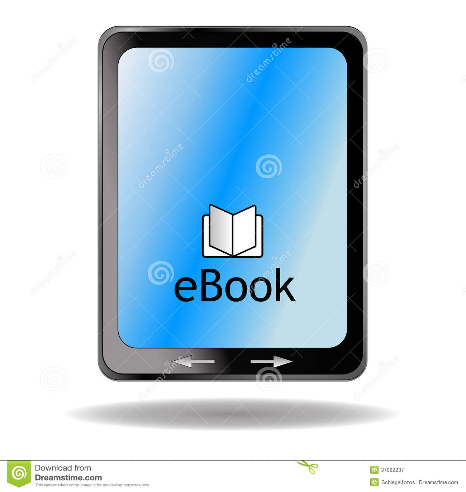 Ebook Reader Isolated Stock Illustration Illustration Of