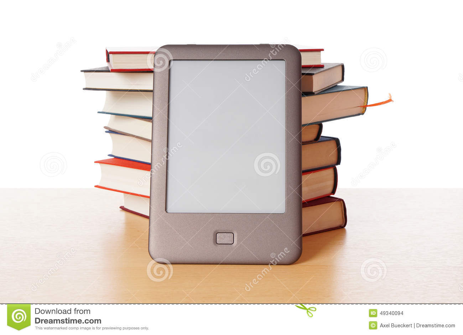 Ebook reader vs pile of books