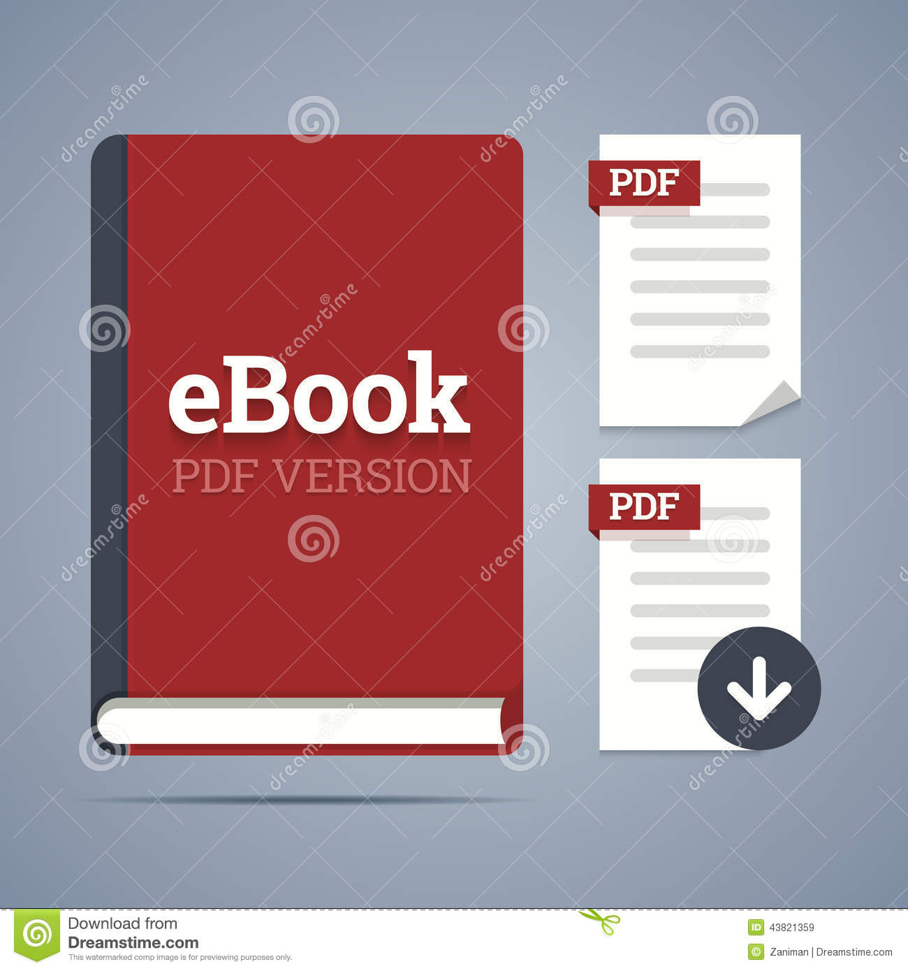 Ebook template with pdf label stock vector illustration of down ebook template with pdf label fandeluxe