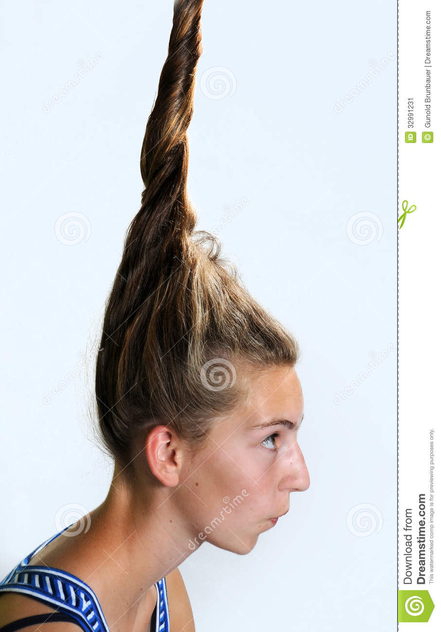 Eccentric hairstyle stock image. Image of female, fancy - 32991231