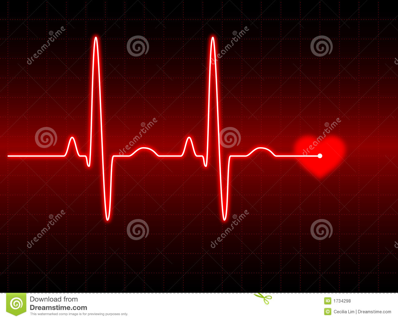 Illustration of an electrocardiogram (ECG) #2. See my portfolio for ...