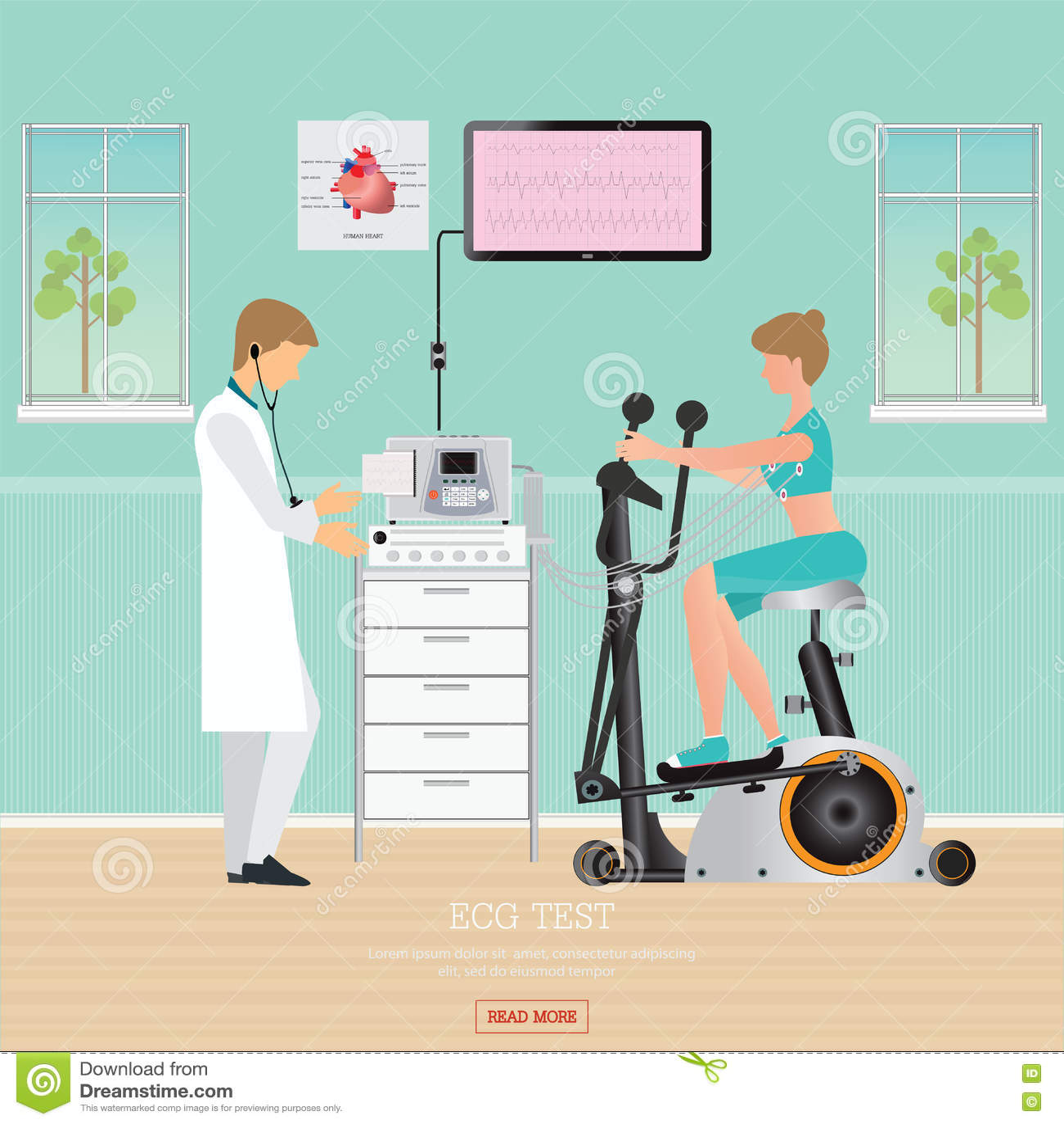 Stress Test Your Portfolio: Heart Exercise Vector Illustration
