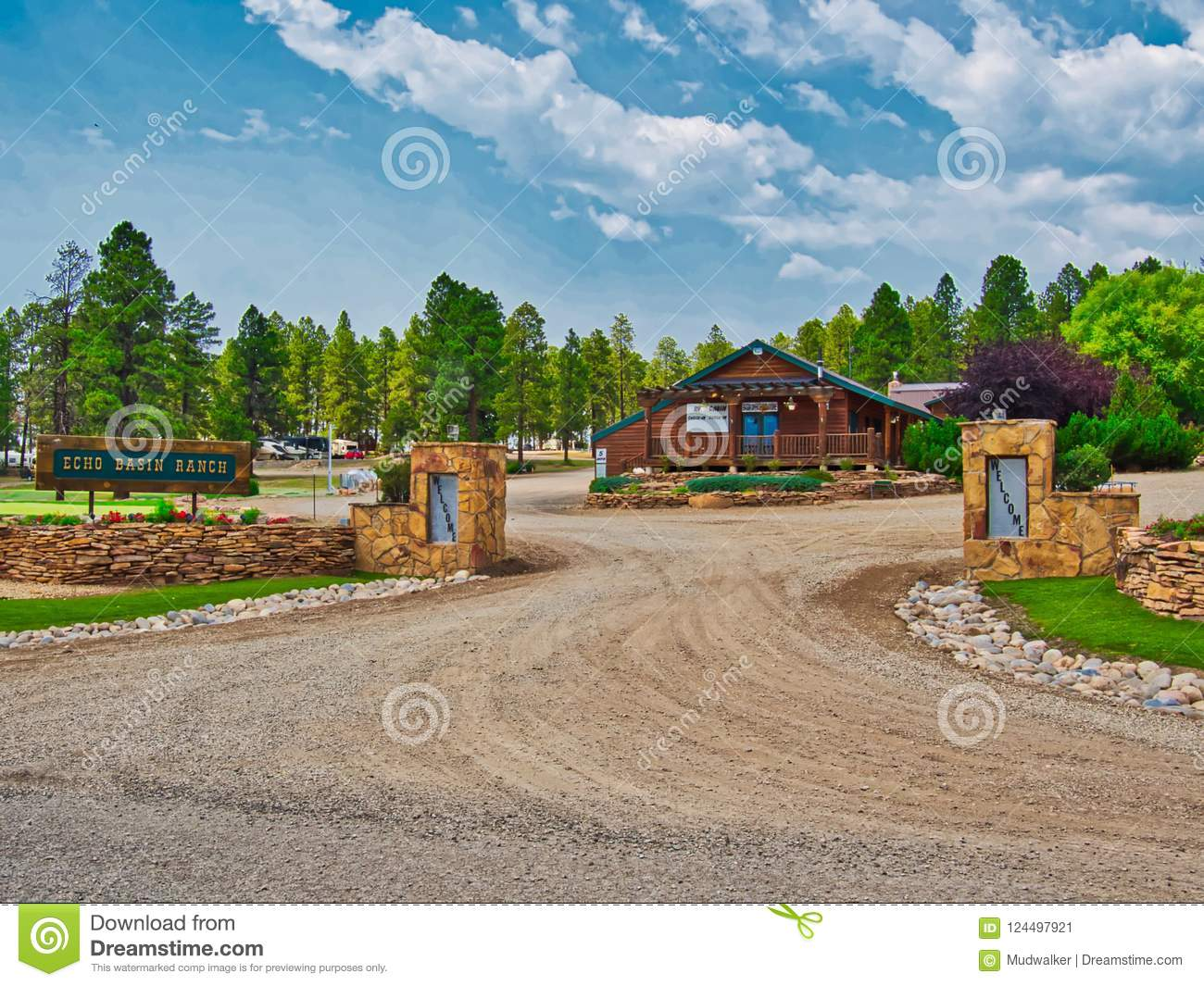 Entrance To Echo Basin Ranch Near Mancos Stock Image - Image