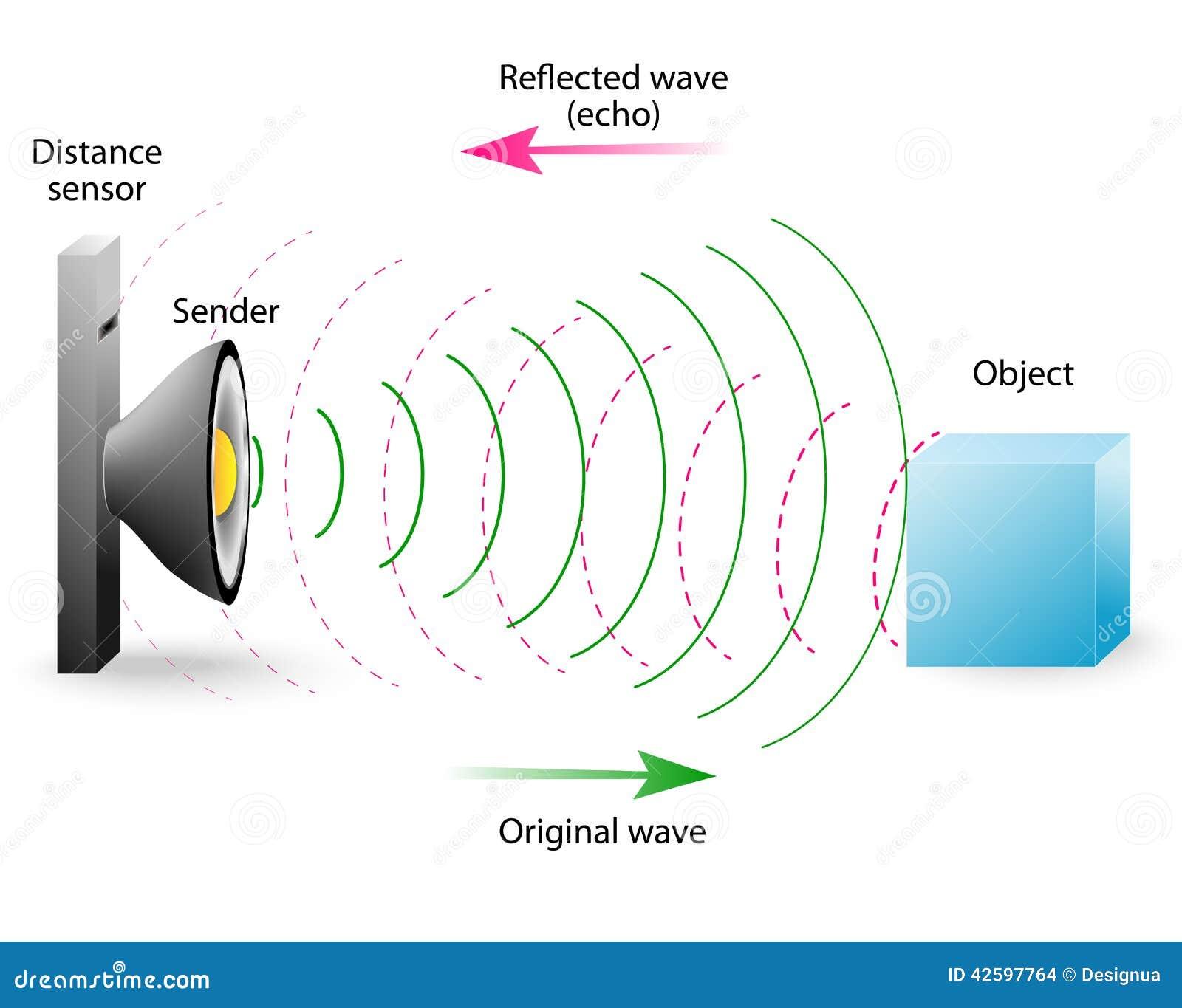 Echo Ist Eine Reflexion Von Schallwellen Vektor Abbildung