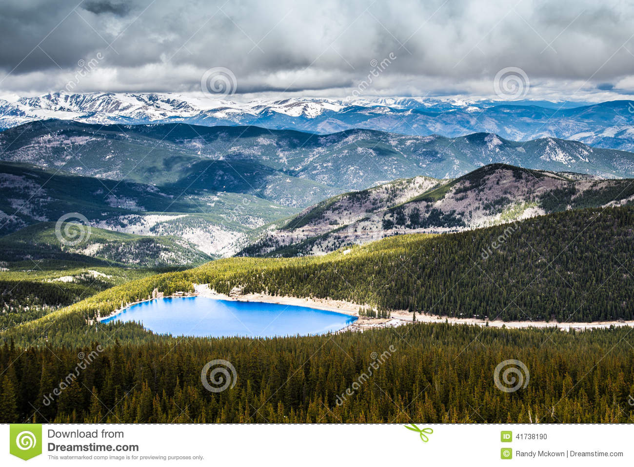Download Echo Lake On Mt Evans Colorado Stock Photo - Image of beautiful, cloudy: 41738190
