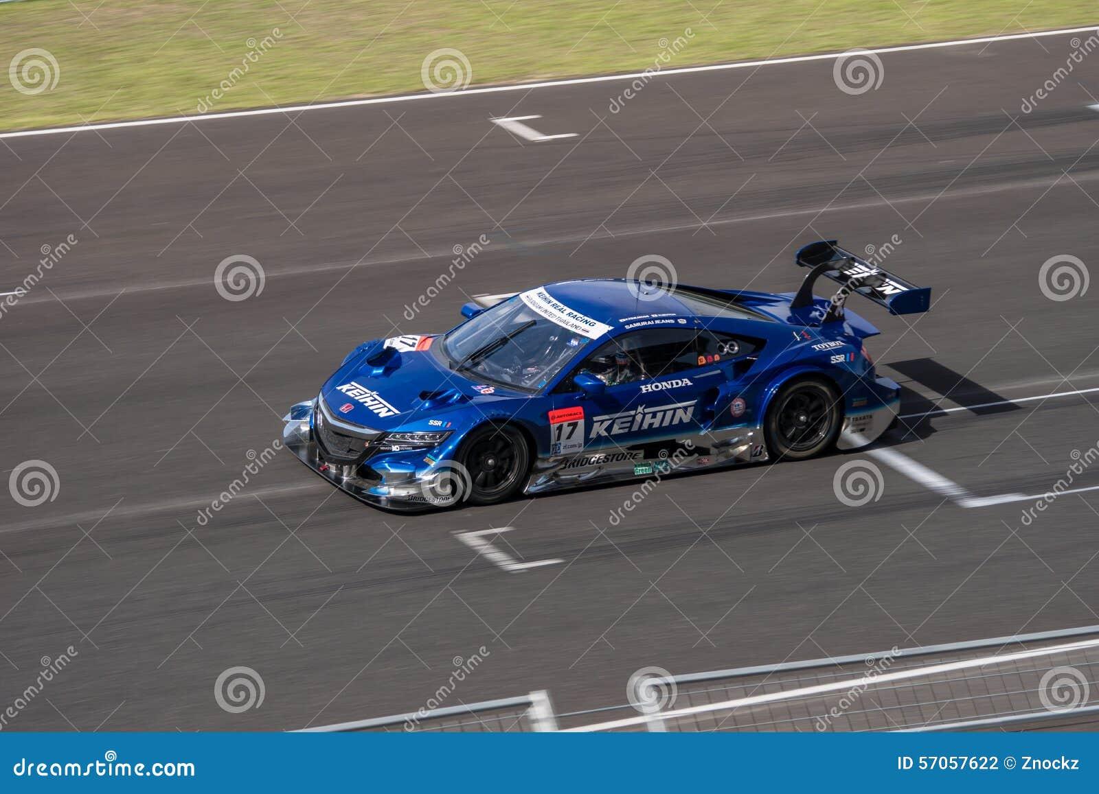 ECHT Hideki Mutoh van KEIHIN RENNEND in Super Definitieve Race 66 van GT Overlapping