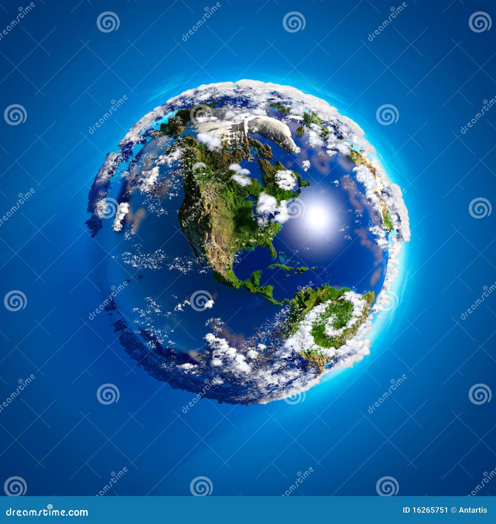 Echte Aarde met de atmosfeer