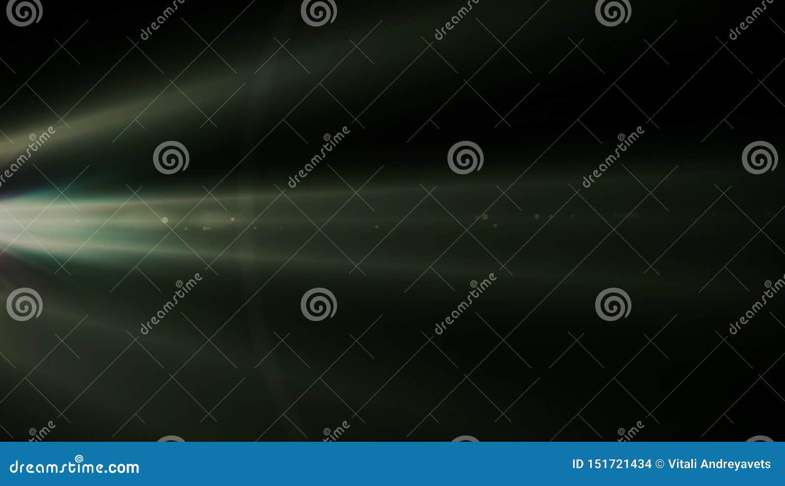 Echte die Lensgloed in Studio over Zwarte Achtergrond wordt geschoten Gemakkelijk om als Bekleding of het Schermfilterfoto s toe