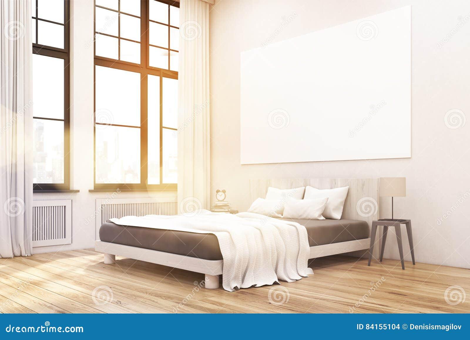 Ecke Eines Hauptschlafzimmers Mit Einem Bett Zwei Nachttischen Und