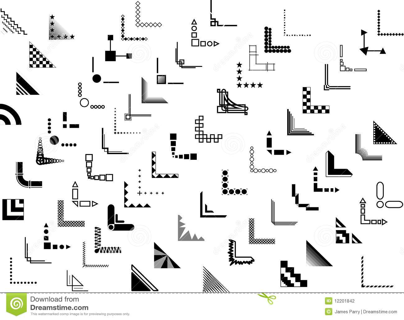 Libreta De Dibujo Mandala Unicornio Papel Blanco: Ecken-und Rand-Auslegungen Des Vektor70+ Vektor Abbildung