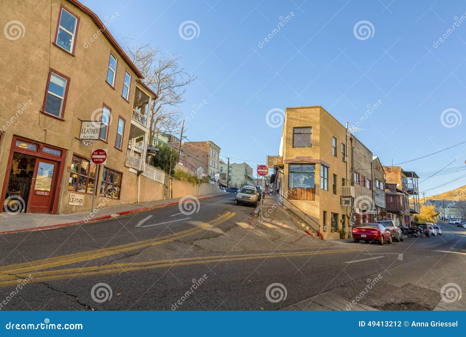 Download Eckstraße In Jerome Arizona USA Redaktionelles Stockfotografie - Bild von arizona, historisch: 49413212
