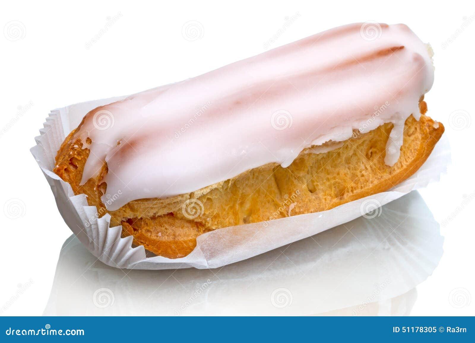 Eclair cake on white