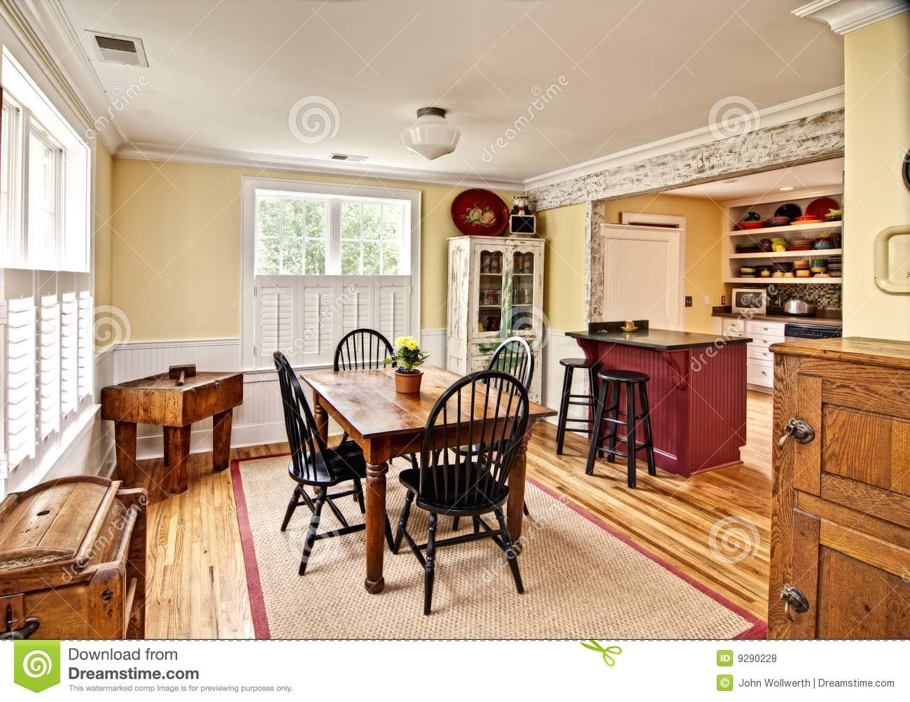 Eclectic Dining Room Stock Photo Image Of Copy Baseboard