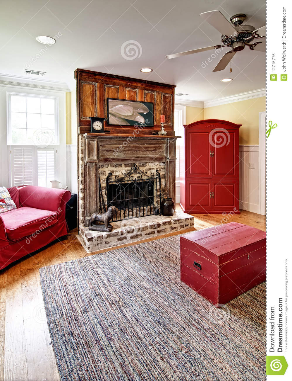 Eclectic Living Room Royalty Free Stock Image Image 12715776