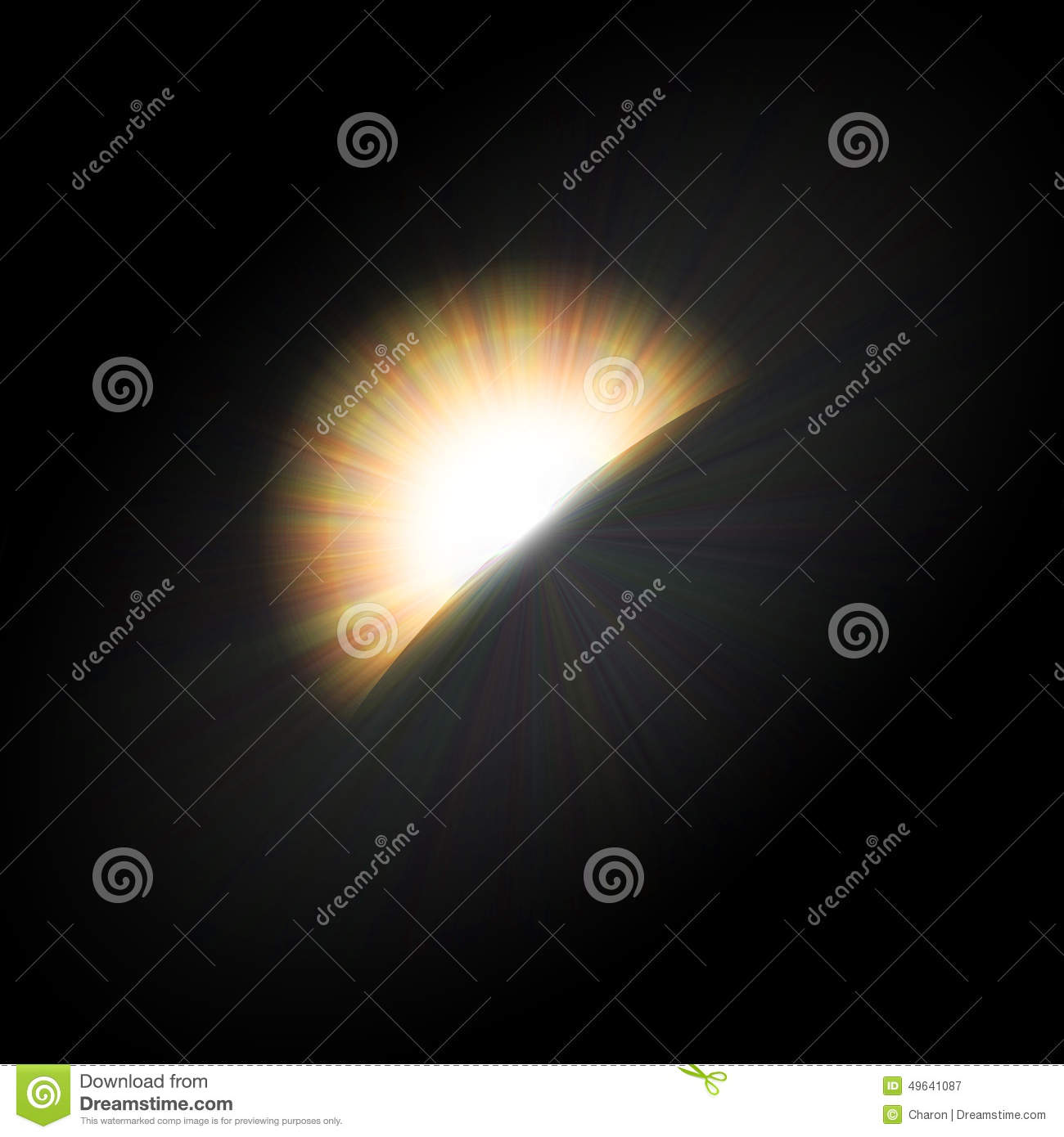 Eclipse light halo flare emptied space