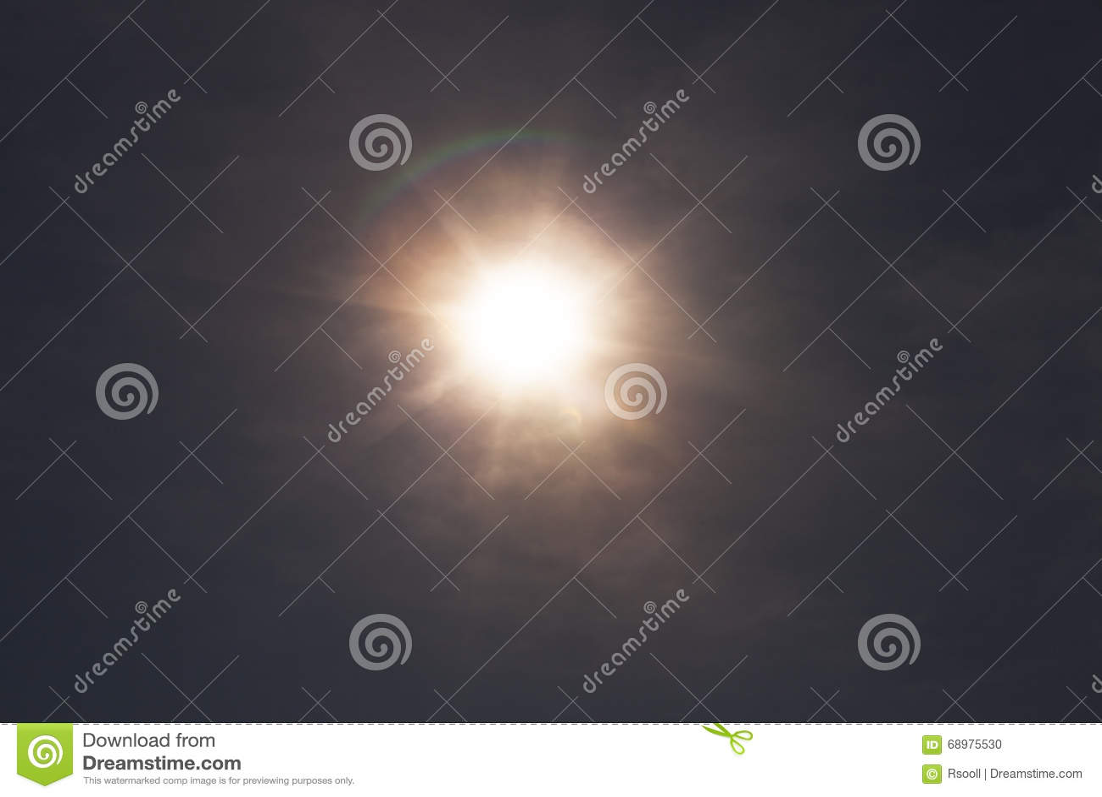 Eclipse solar, cielo