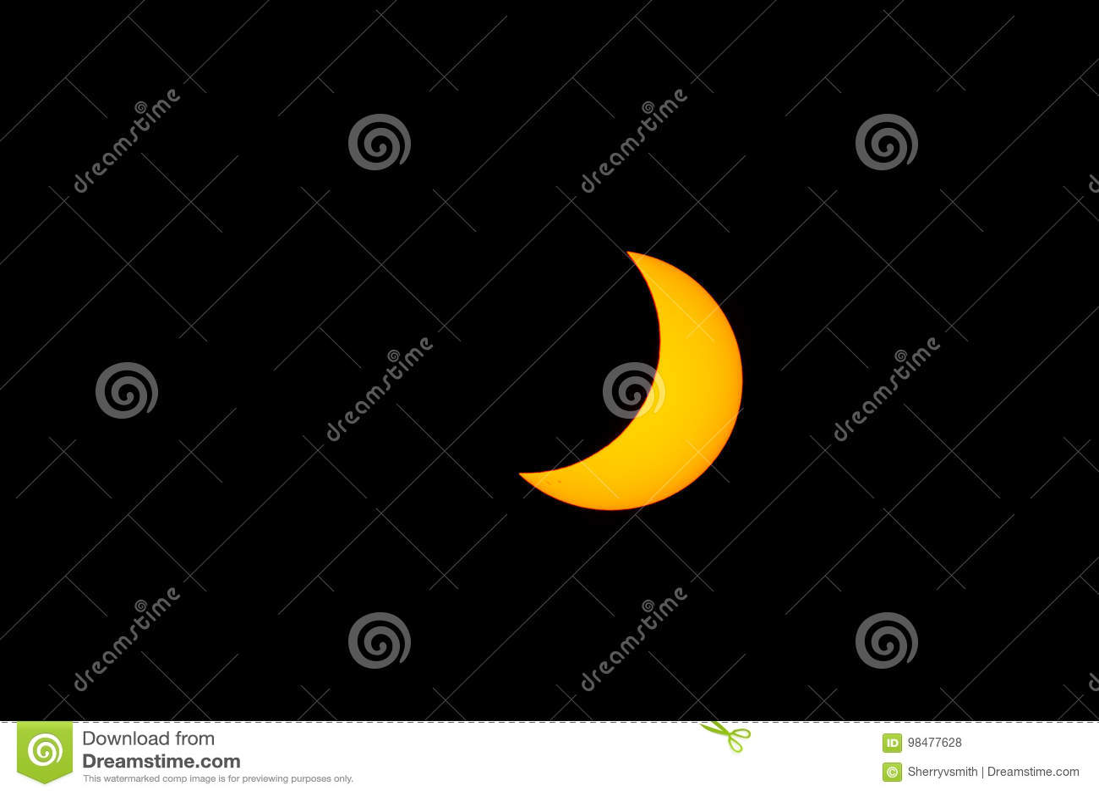 Eclipse solar parcial de San Diego, Califórnia
