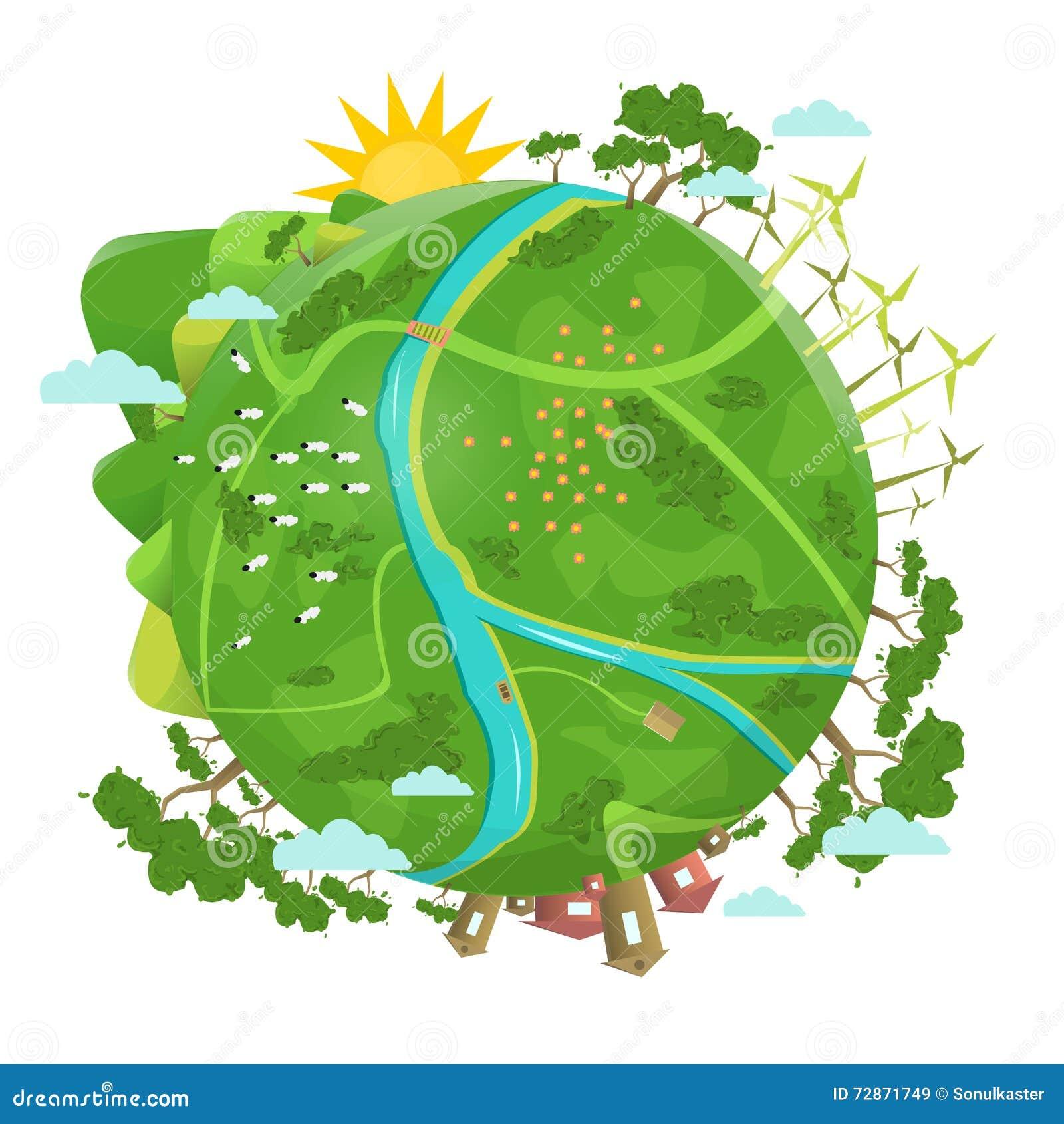 Eco amical Conception d écologie Planète verte