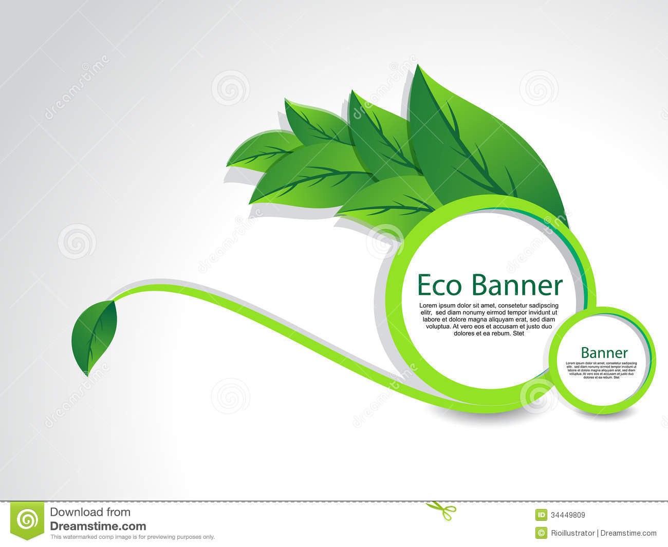 Eco Banner With Leaf Royalty Free Stock Images - Image ...