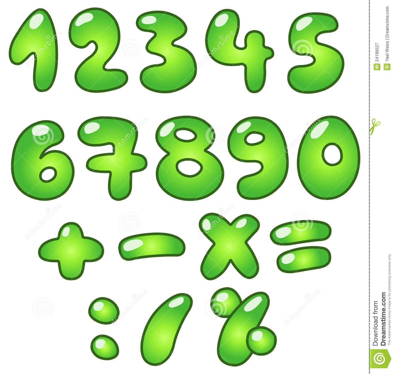 Eco Bubble Numbers Royalty Free Stock Photography - Image: 24186527