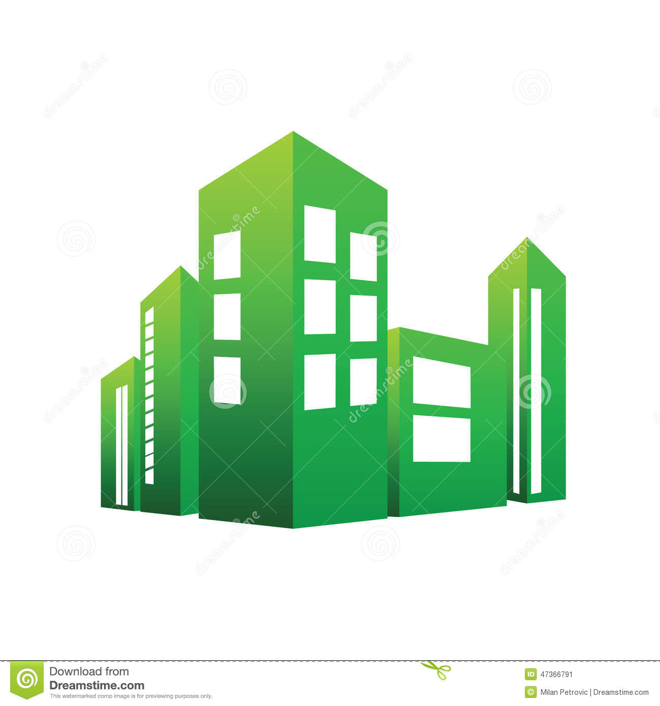 Eco building green vector stock vector illustration of for Eco green builders
