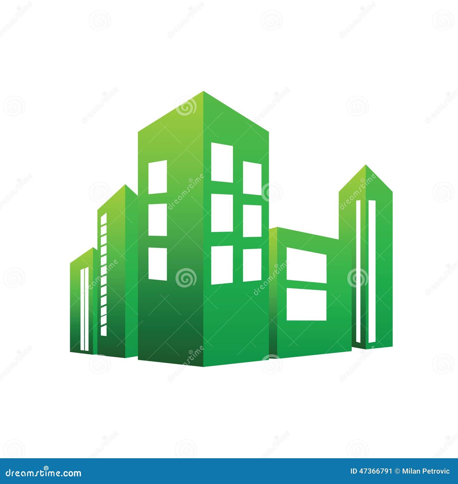 Eco Building Green Vector Stock Vector Image 47366791