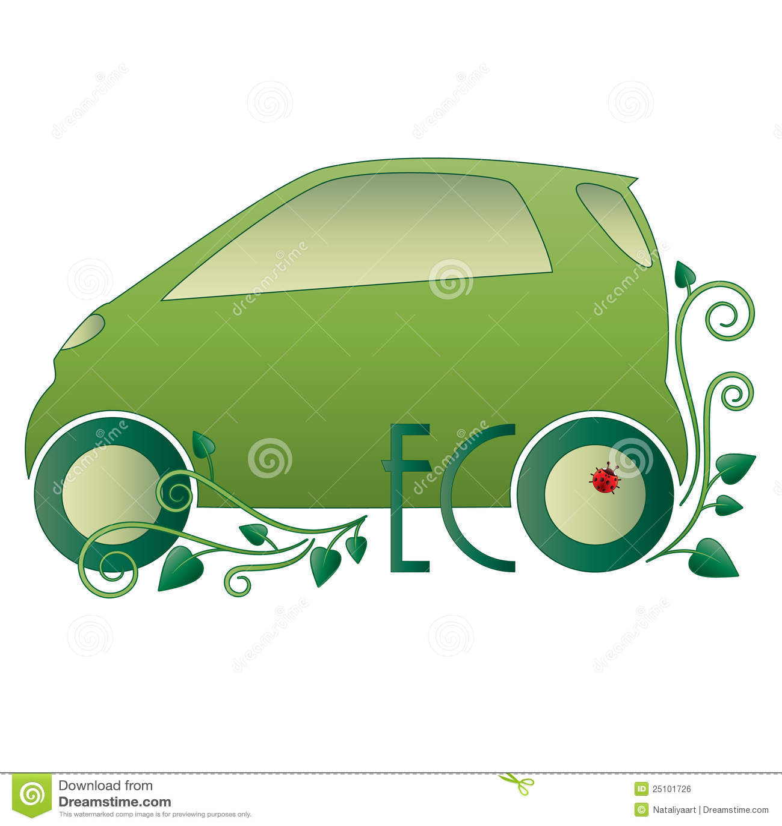 Eco Car Royalty Free Stock Image - Image: 25101726