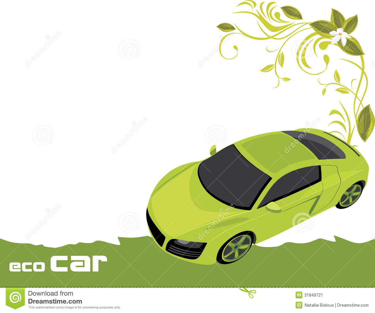 Eco Car. Banner For Design Stock Image - Image: 31849721