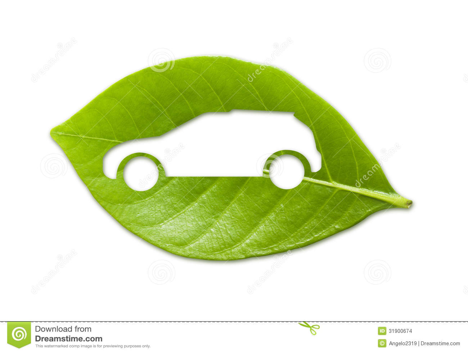 Leaf Eco Car II Stock Images - Image: 31901054