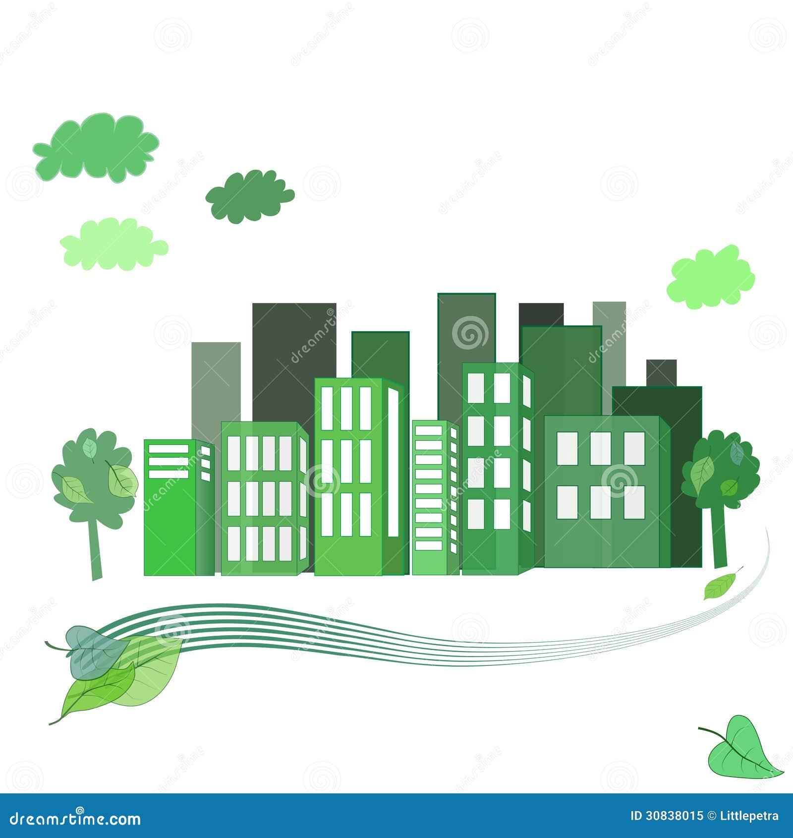 Eco City Stock Vector Illustration Of Cartoon Design