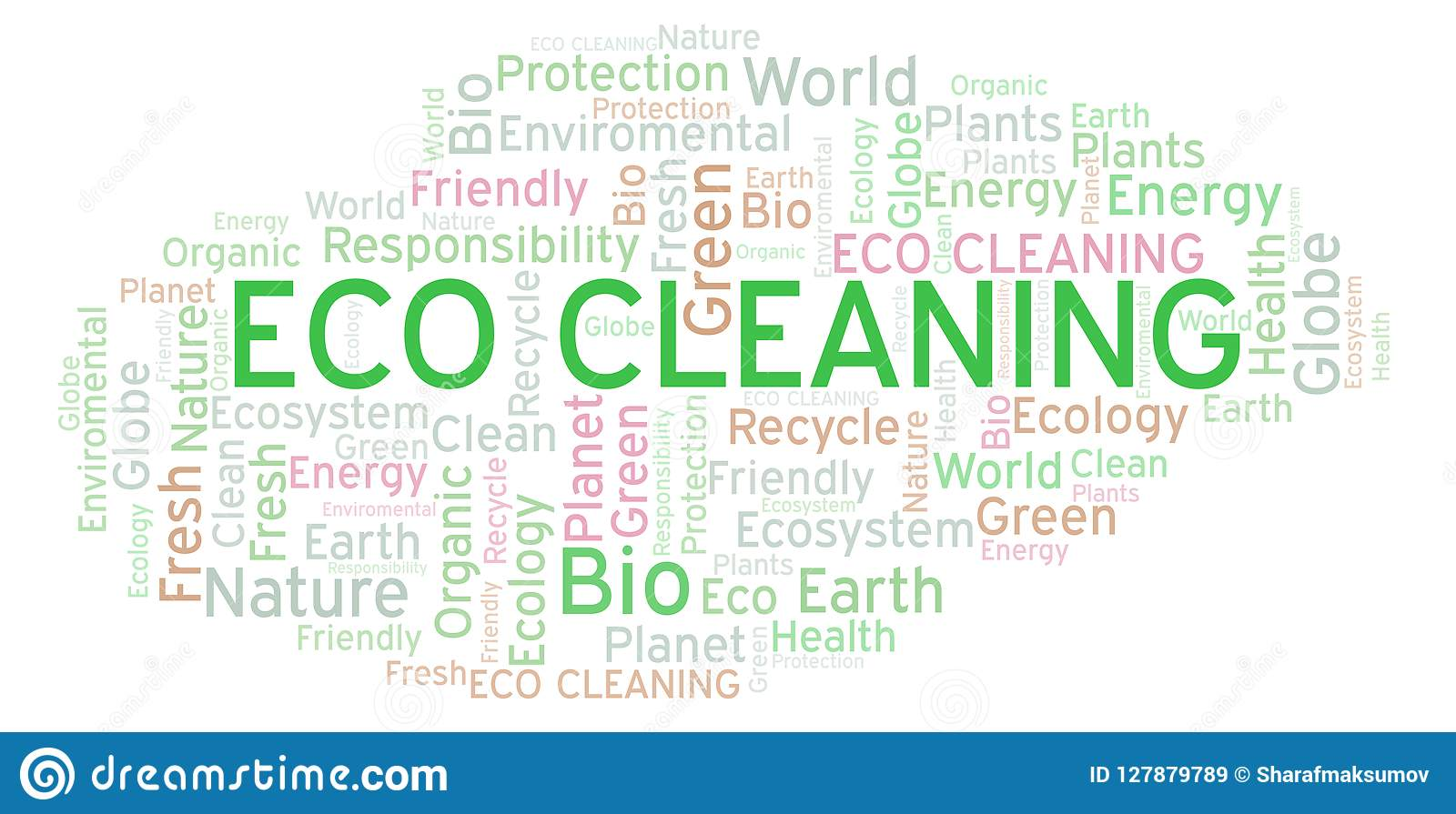 Eco Cleaning word cloud.