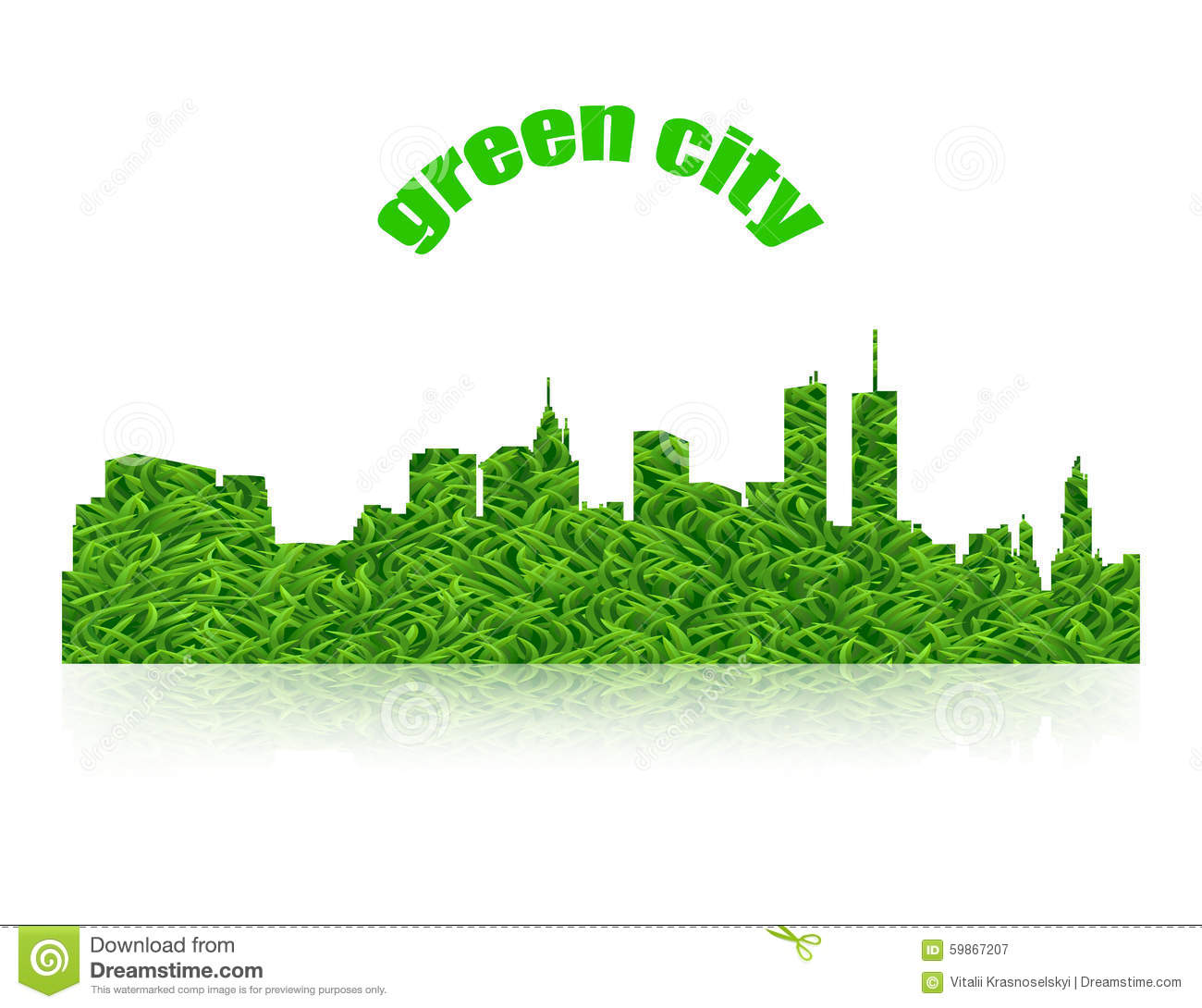eco concept green city logo with shadow stock vector. Black Bedroom Furniture Sets. Home Design Ideas