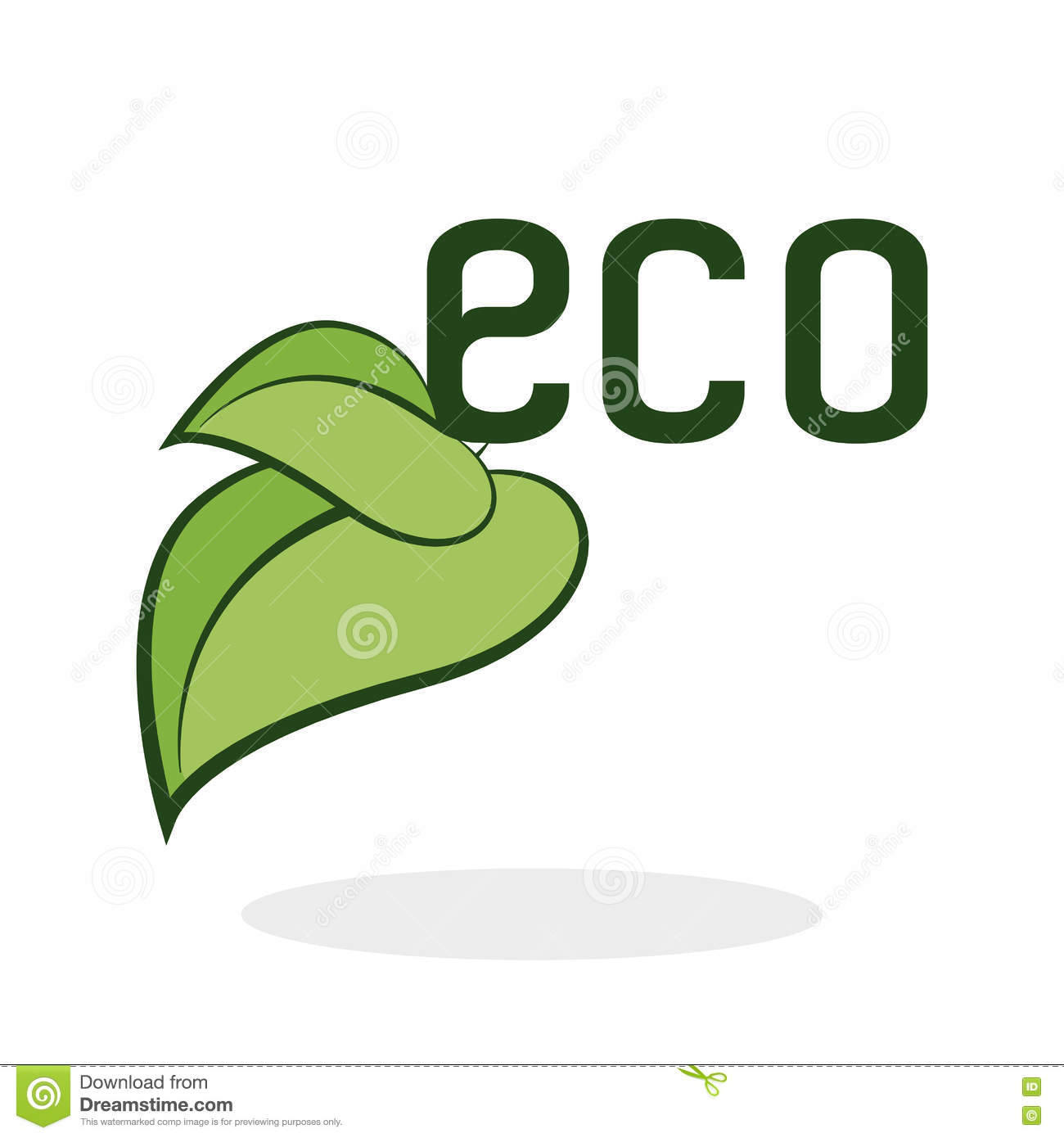 eco design green concept earth protection icon stock vector illustration of nature. Black Bedroom Furniture Sets. Home Design Ideas
