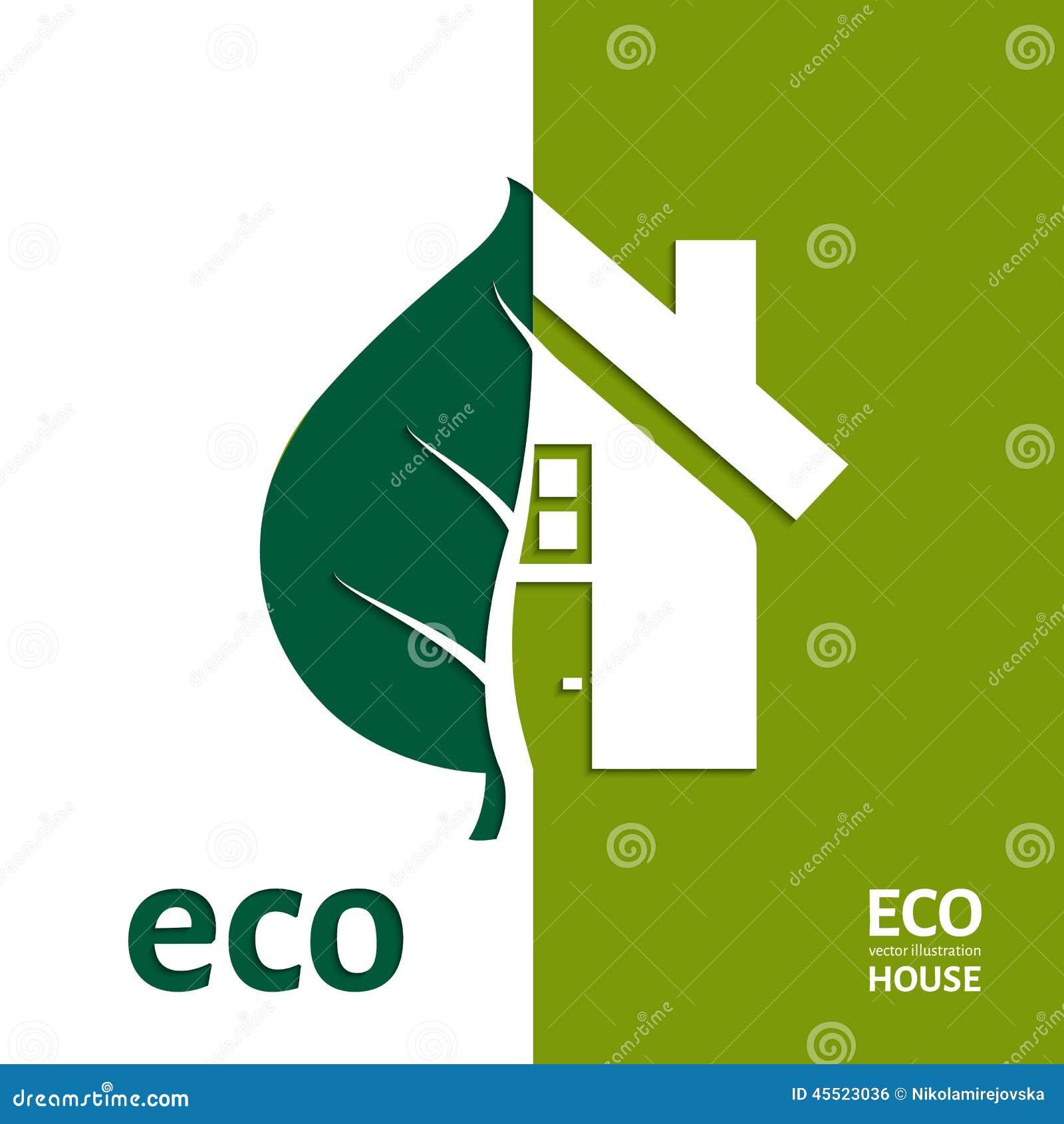 Eco domu wektor 10 eps