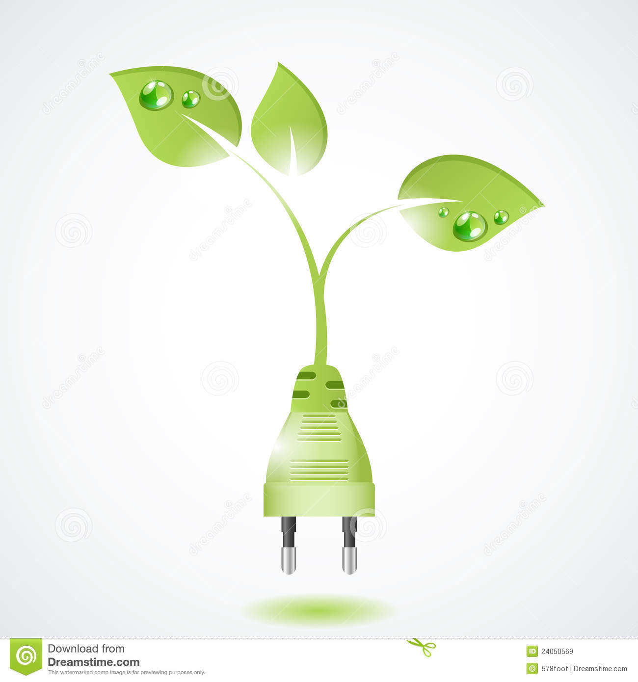 Ecology and waste plug symbol with eco vector illustration 48175262 - Auchan eco energie ...