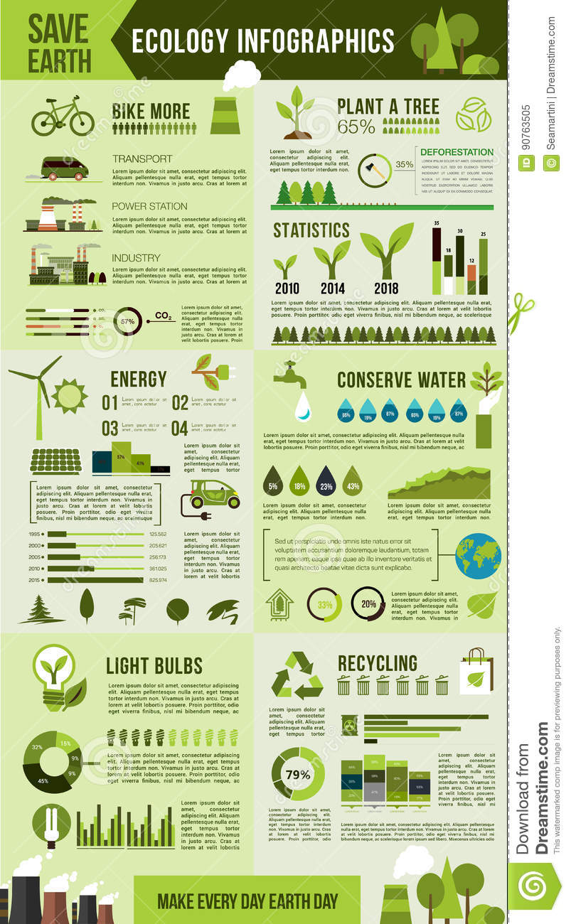 Eco Environment Protection Infographic Design Stock Vector