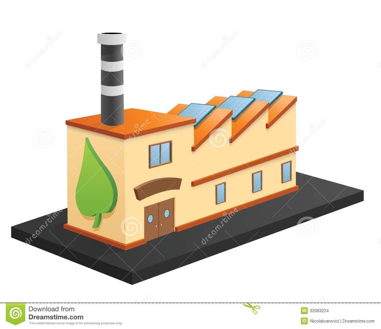 Eco Factory Stock Images - Image: 32083224