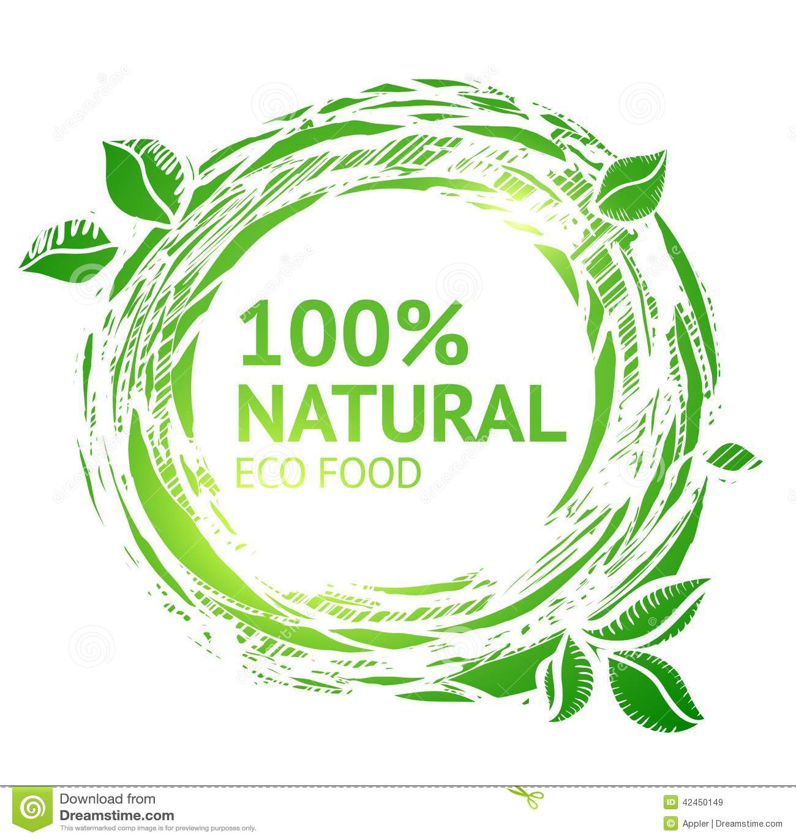 Eco food grunge label stock vector image 42450149 for Eco cuisine design avis